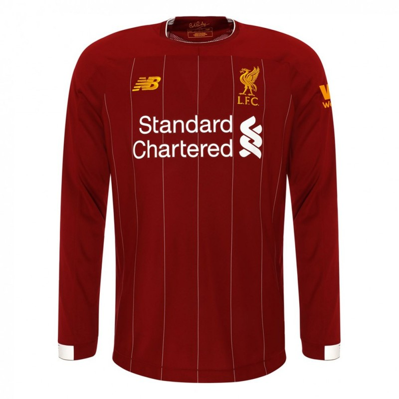 MAILLOT LIVERPOOL DOMICILE MANCHES-LONGUES 2019-2020