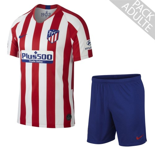 PACK ATLETICO MADRID DOMICILE. ENSEMBLE ADULTE MAILLOT ET SHORT 2019-2020