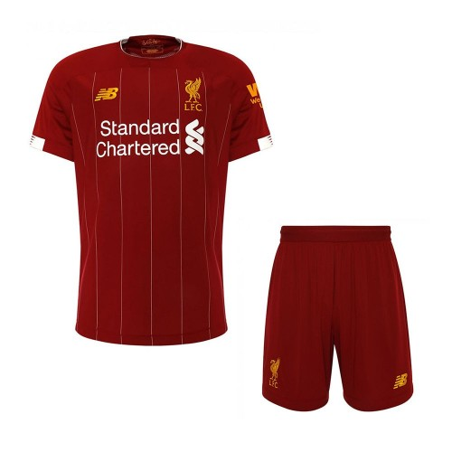 PACK JUNIOR LIVERPOOL DOMICILE. ENSEMBLE MAILLOT ET SHORT 2019-2020