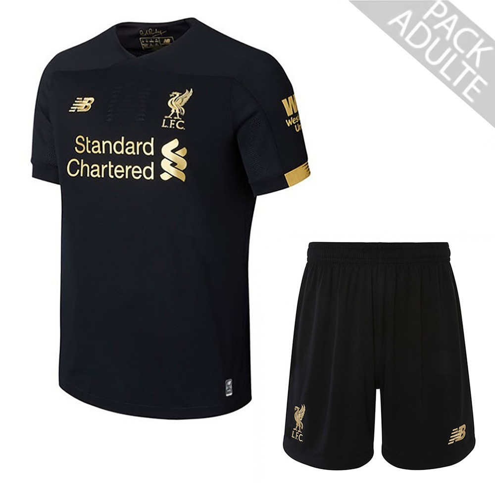 PACK LIVERPOOL GARDIEN DE BUT. ENSEMBLE ADULTE MAILLOT ET SHORT 2019-2020