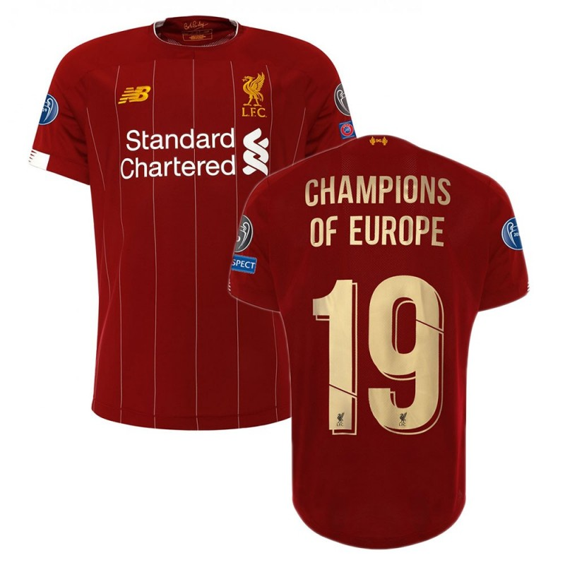 MAILLOT LIVERPOOL CHAMPIONS D'EUROPE DOMICILE 2019-2020