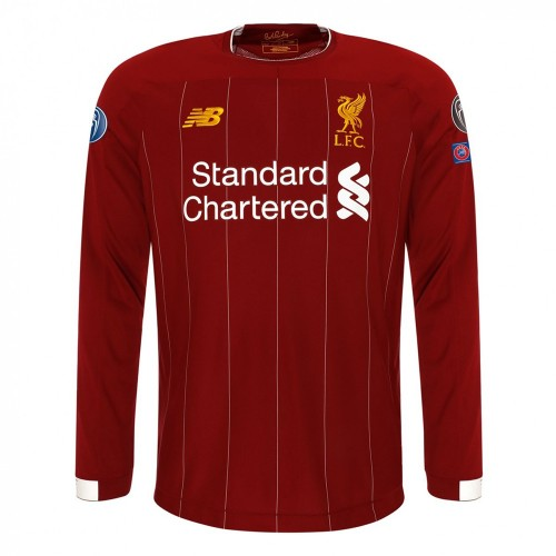 MAILLOT LIVERPOOL CHAMPIONS D'EUROPE DOMICILE MANCHES-LONGUES 2019-2020