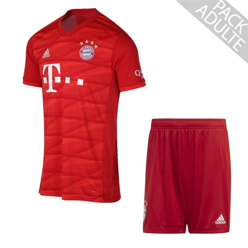 PACK BAYERN MUNICH DOMICILE. ENSEMBLE ADULTE MAILLOT ET SHORT 2019-2020