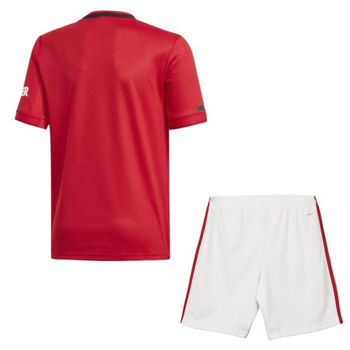 PACK JUNIOR MANCHESTER UNITED DOMICILE. ENSEMBLE MAILLOT ET SHORT 2019-2020
