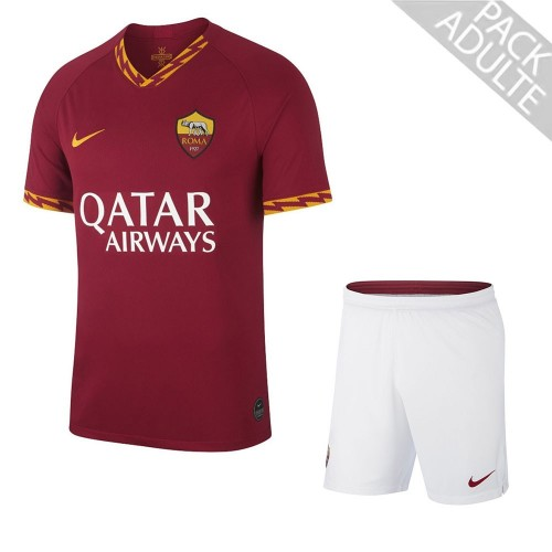 PACK AS ROMA DOMICILE. ENSEMBLE ADULTE MAILLOT ET SHORT 2019-2020
