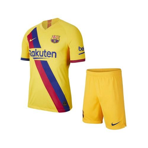 PACK JUNIOR FC BARCELONE DOMICILE. ENSEMBLE MAILLOT ET SHORT 2019-2020
