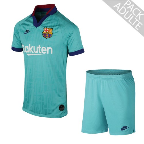 PACK FC BARCELONE THIRD. ENSEMBLE ADULTE MAILLOT ET SHORT 2019-2020