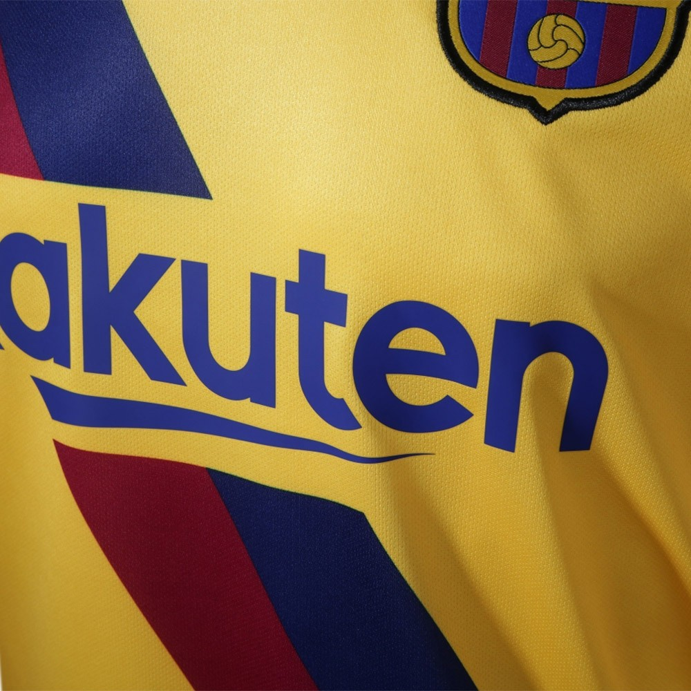 PACK FC BARCELONE EXTERIEUR. ENSEMBLE ADULTE MAILLOT ET SHORT 2019-2020