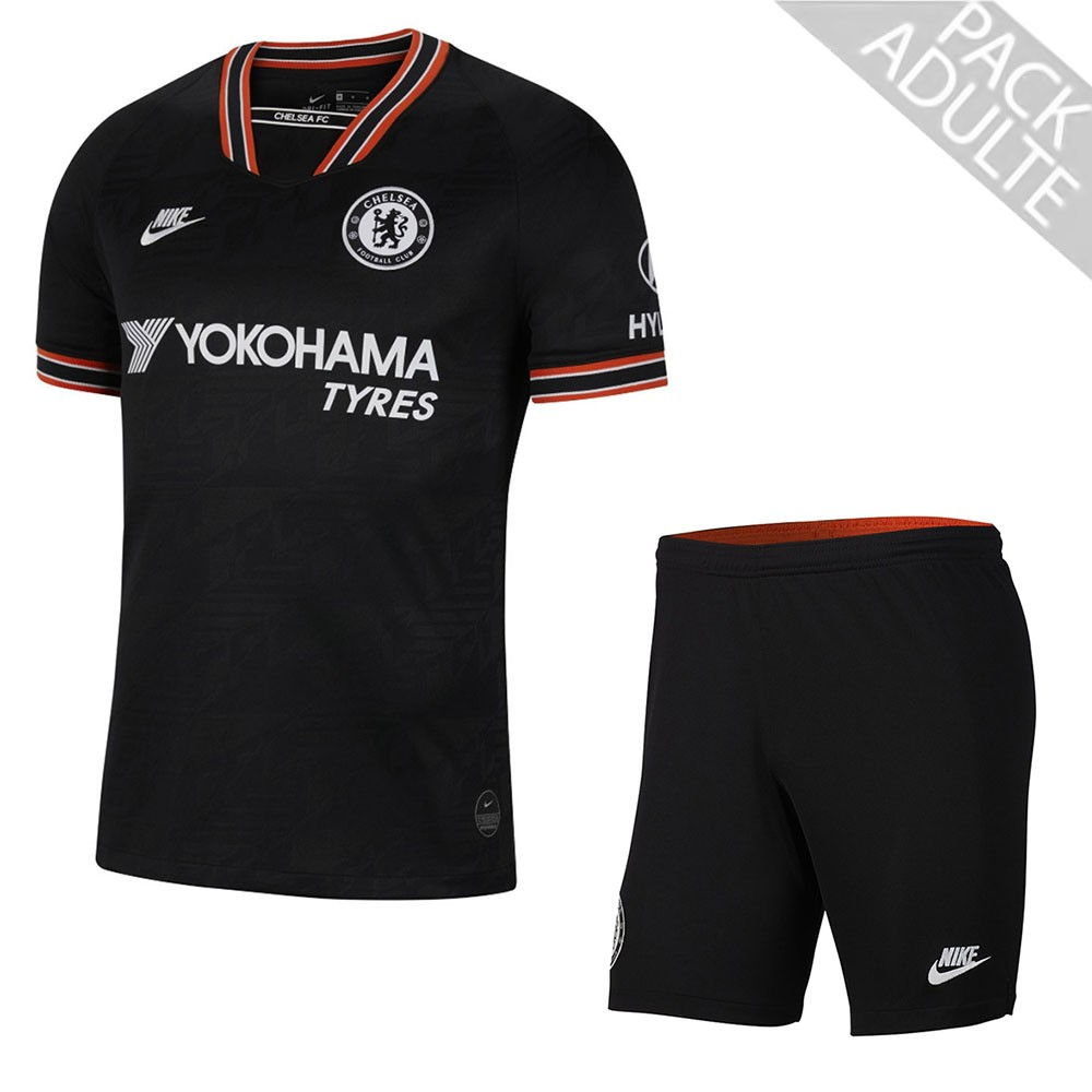 PACK CHELSEA THIRD. ENSEMBLE ADULTE MAILLOT ET SHORT 2019-2020