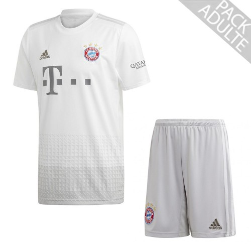PACK BAYERN MUNICH EXTERIEUR. ENSEMBLE ADULTE MAILLOT ET SHORT 2019-2020