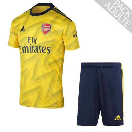 PACK ARSENAL EXTERIEUR. ENSEMBLE ADULTE MAILLOT ET SHORT 2019-2020