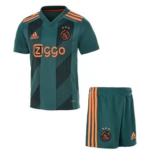 PACK JUNIOR AJAX AMSTERDAM EXTERIEUR. ENSEMBLE MAILLOT ET SHORT 2019-2020