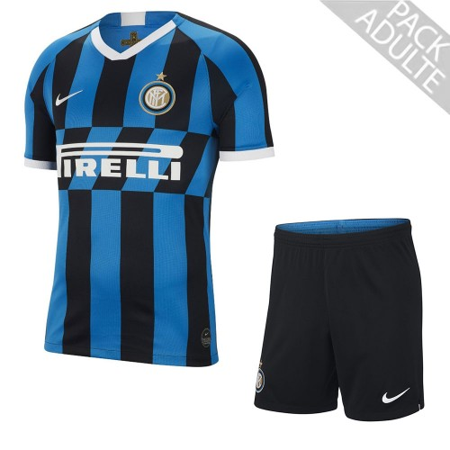 PACK INTER MILAN DOMICILE. ENSEMBLE ADULTE MAILLOT ET SHORT 2019-2020
