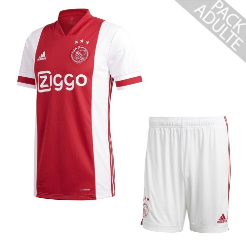 PACK AJAX AMSTERDAM DOMICILE. ENSEMBLE ADULTE MAILLOT ET SHORT 2020-2021