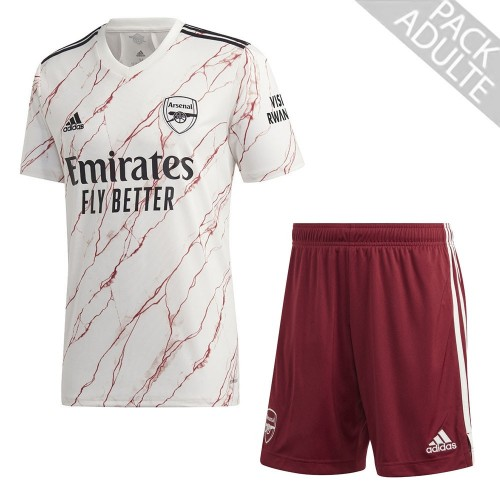 PACK ARSENAL EXTERIEUR. ENSEMBLE ADULTE MAILLOT ET SHORT 2020-2021