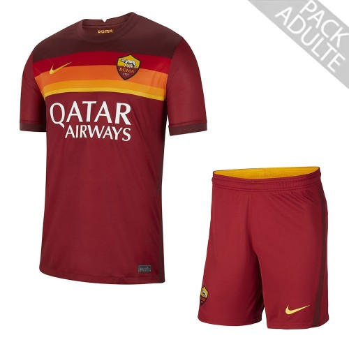 PACK AS ROMA DOMICILE. ENSEMBLE ADULTE MAILLOT ET SHORT 2020-2021