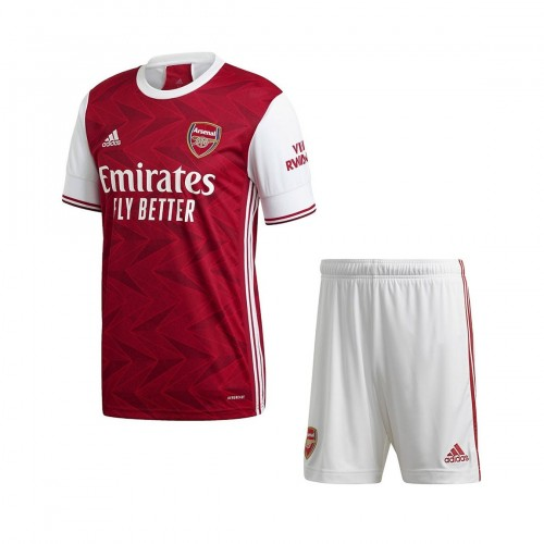 PACK JUNIOR ARSENAL DOMICILE. ENSEMBLE MAILLOT ET SHORT 2020-2021