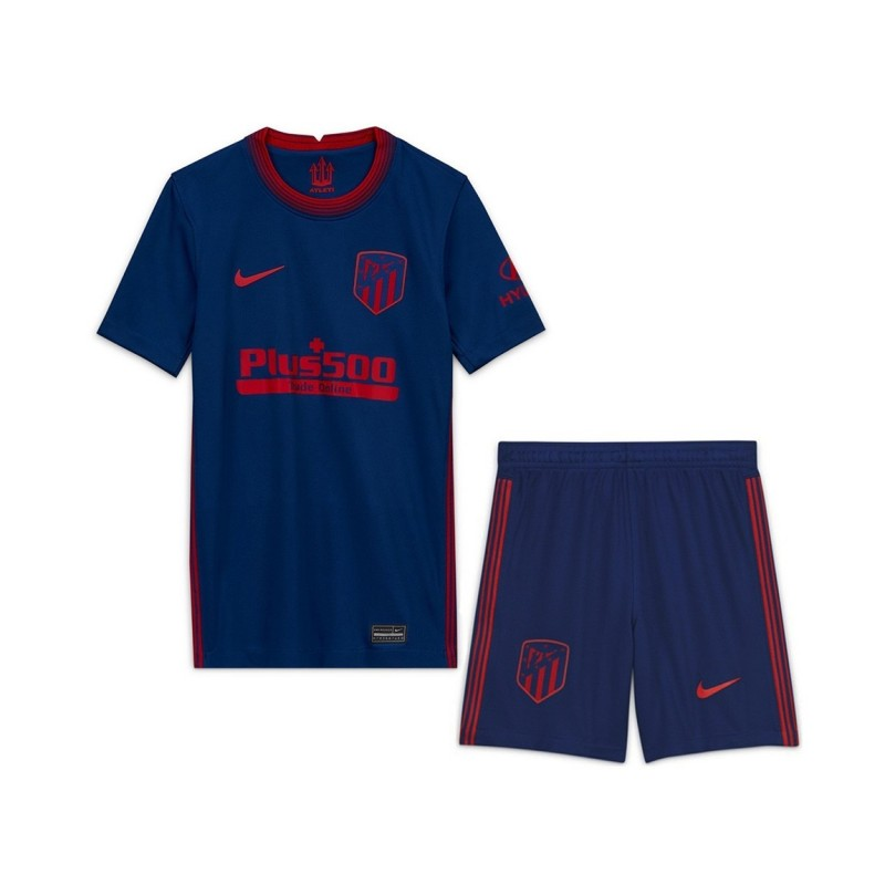 PACK JUNIOR ATLETICO MADRID EXTERIEUR. ENSEMBLE MAILLOT ET SHORT 2020-2021