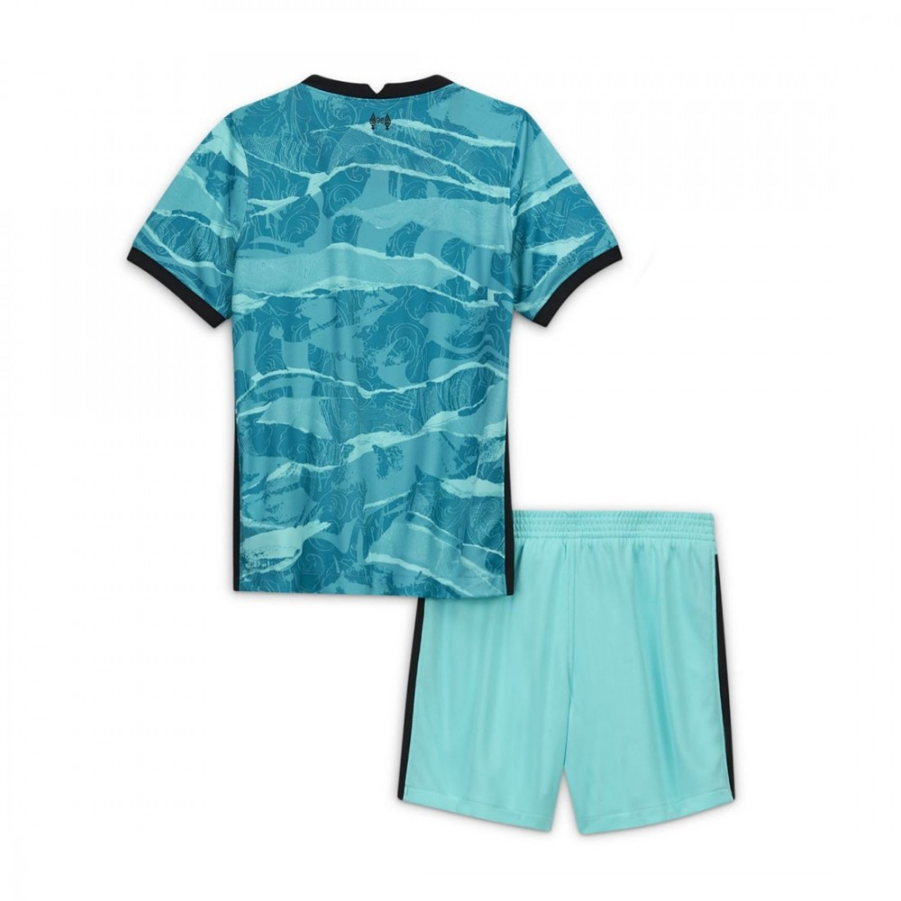 PACK JUNIOR LIVERPOOL EXTERIEUR. ENSEMBLE MAILLOT ET SHORT 2020-2021