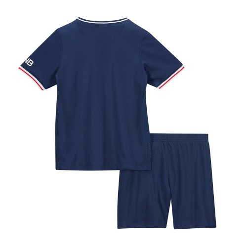 PACK JUNIOR PSG DOMICILE. ENSEMBLE MAILLOT ET SHORT 2020-2021