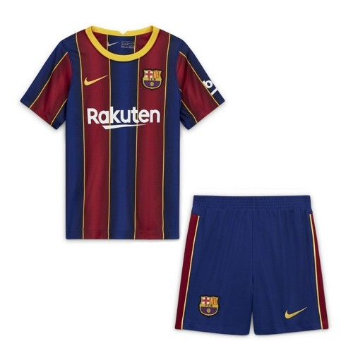PACK JUNIOR FC BARCELONE DOMICILE. ENSEMBLE MAILLOT ET SHORT 2020-2021