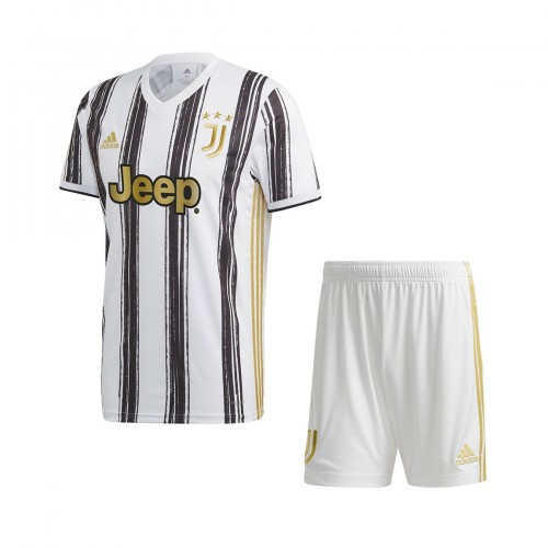 PACK JUNIOR JUVENTUS DOMICILE. ENSEMBLE MAILLOT ET SHORT 2020-2021