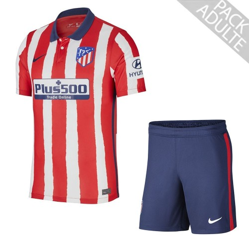 PACK ATLETICO MADRID DOMICILE. ENSEMBLE ADULTE MAILLOT ET SHORT 2020-2021