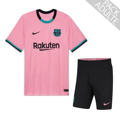 PACK FC BARCELONE THIRD. ENSEMBLE ADULTE MAILLOT ET SHORT 2020-2021