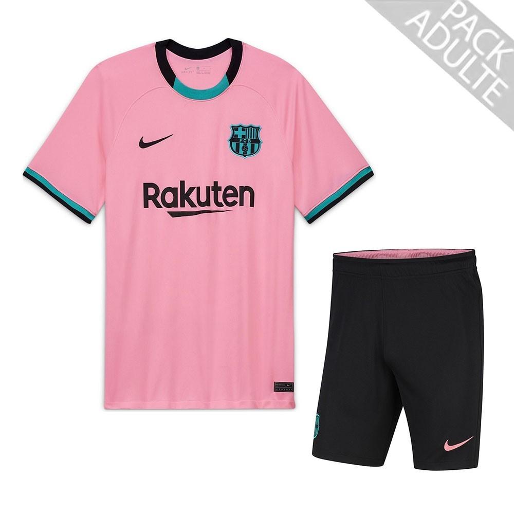 PACK FC BARCELONE THIRD. ENSEMBLE ADULTE MAILLOT ET SHORT 2020-2021