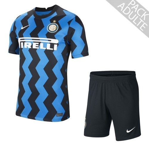 PACK INTER MILAN DOMICILE. ENSEMBLE ADULTE MAILLOT ET SHORT 2020-2021