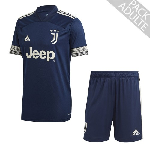 PACK JUVENTUS EXTERIEUR. ENSEMBLE ADULTE MAILLOT ET SHORT 2020-2021