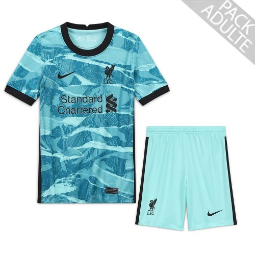 PACK LIVERPOOL EXTERIEUR. ENSEMBLE ADULTE MAILLOT ET SHORT 2020-2021