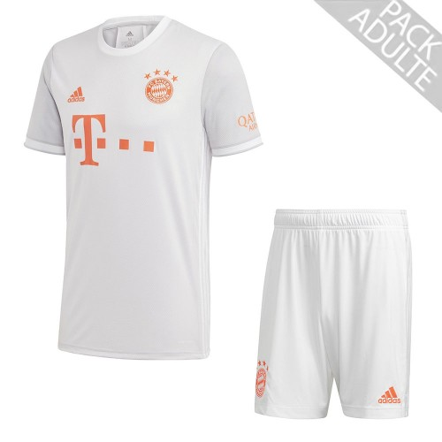 PACK BAYERN MUNICH EXTERIEUR. ENSEMBLE ADULTE MAILLOT ET SHORT 2020-2021