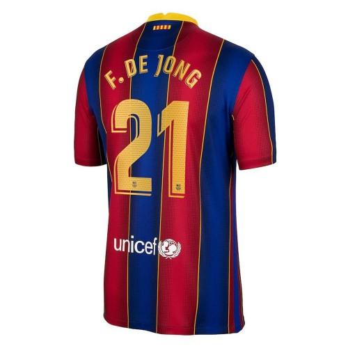 MAILLOT FC BARCELONE DOMICILE DE JONG 2020-2021