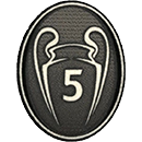 Badge 5 Champions League (-40%) : 6€